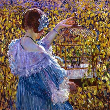 frieseke-the-bird-cage-new-britain-1910