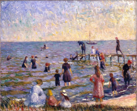 glackens-bathing-at-bellport-1912-brooklyn-museum