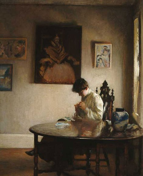 tarbell-girl-crocheting