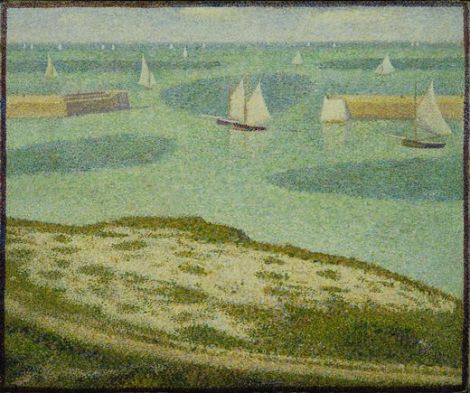 Seurat - Port-en-Bessin Entrance to the Harbor (1888 MOMA)