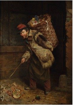 Thomas Waterman Wood - The Rag Picker (Natl Acad NYC 1859)(